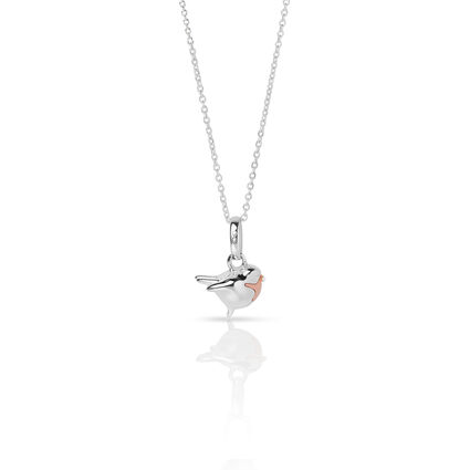 Essentials Sterling Silver 45cm Chain & Robin Charm, , hires